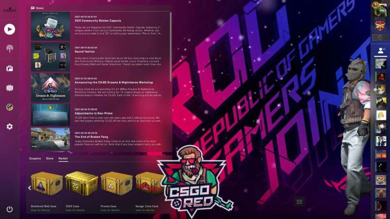ASUS Republic of Gamers CSGO Panorama UI Background