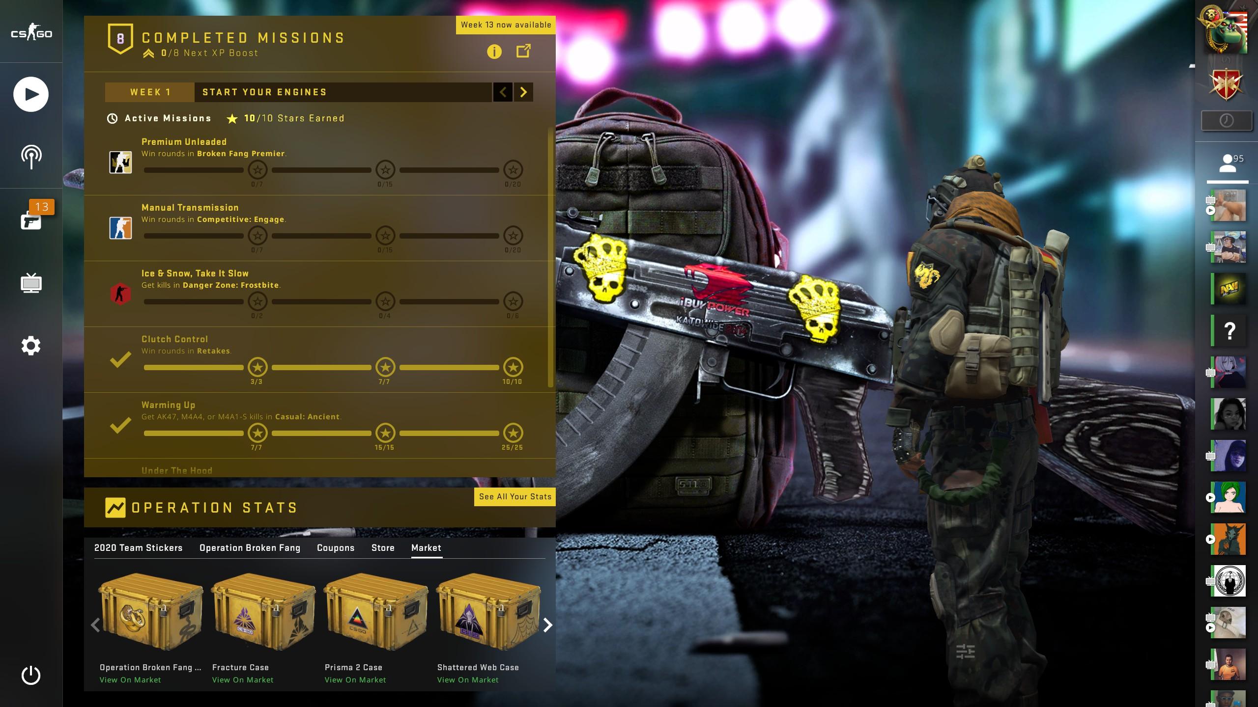 Ak-47 Black Laminate CSGO Panorama UI Preview