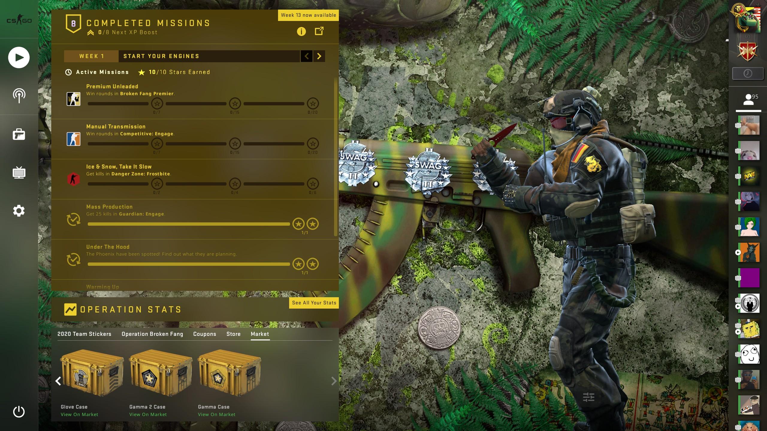 Ak-47 SWAG CSGO Panorama UI Background Preview