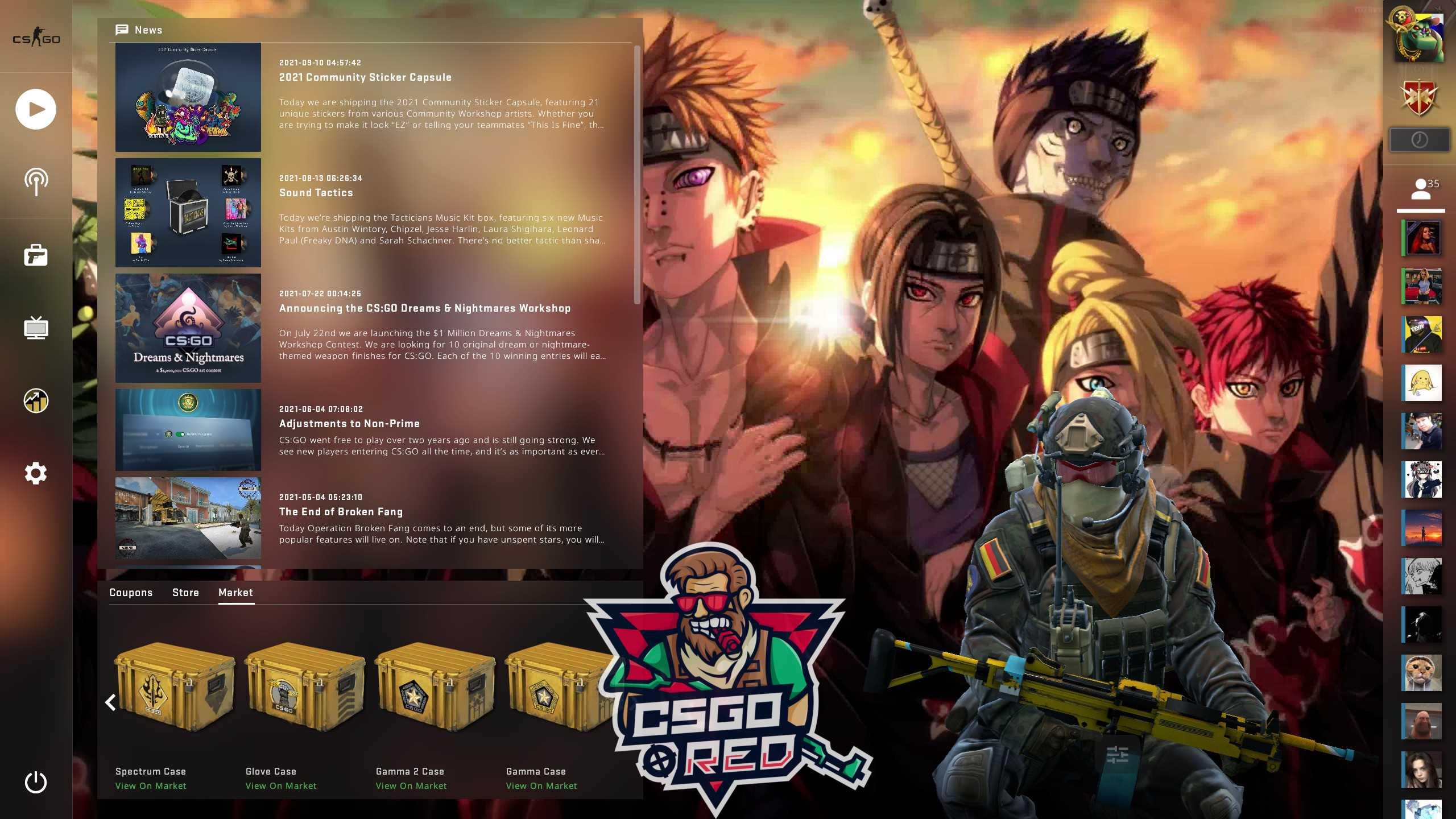Akatsuki CSGO Panorama UI Background