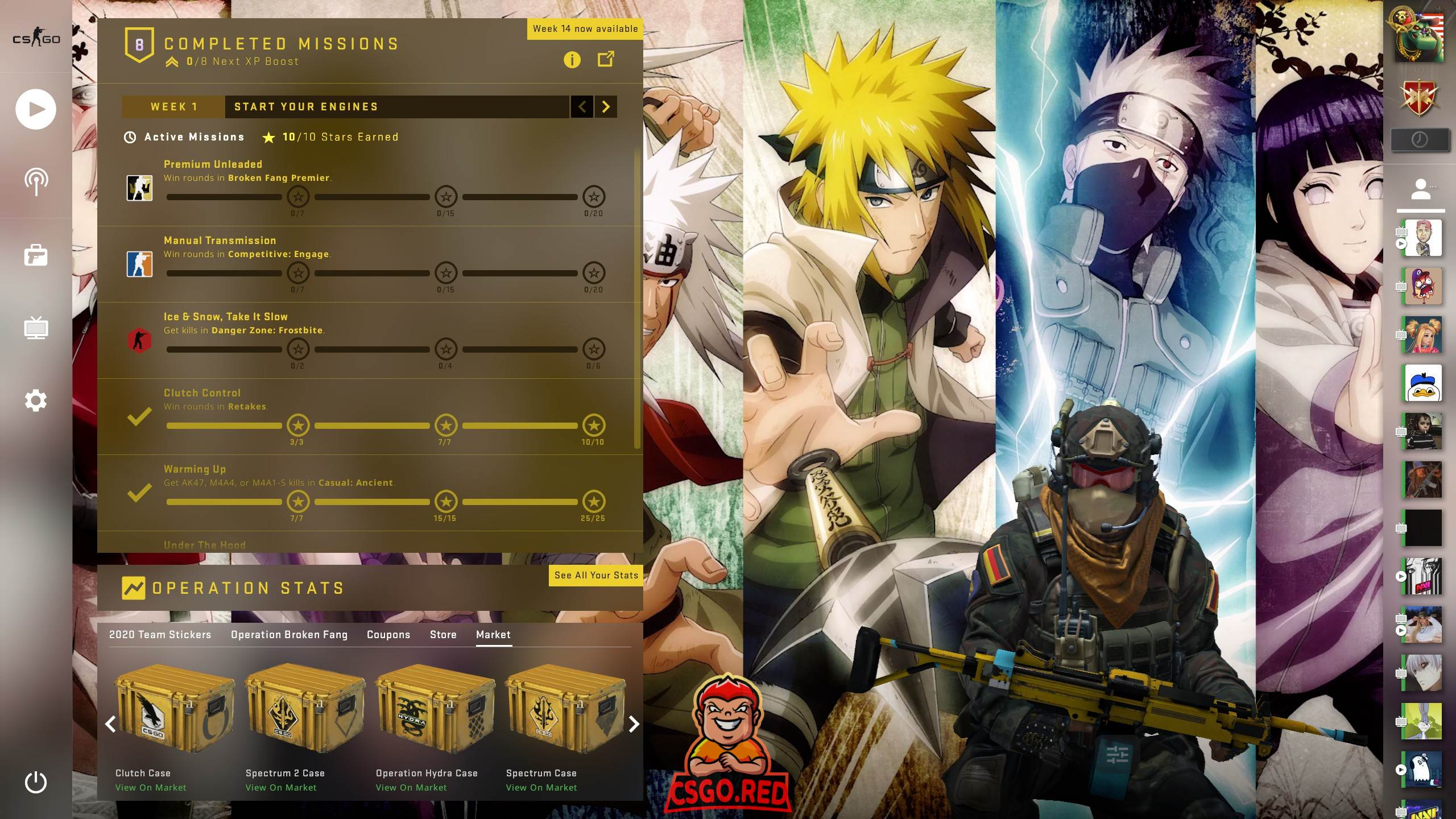 Animated Naruto Background CSGO Panorama UI Preview