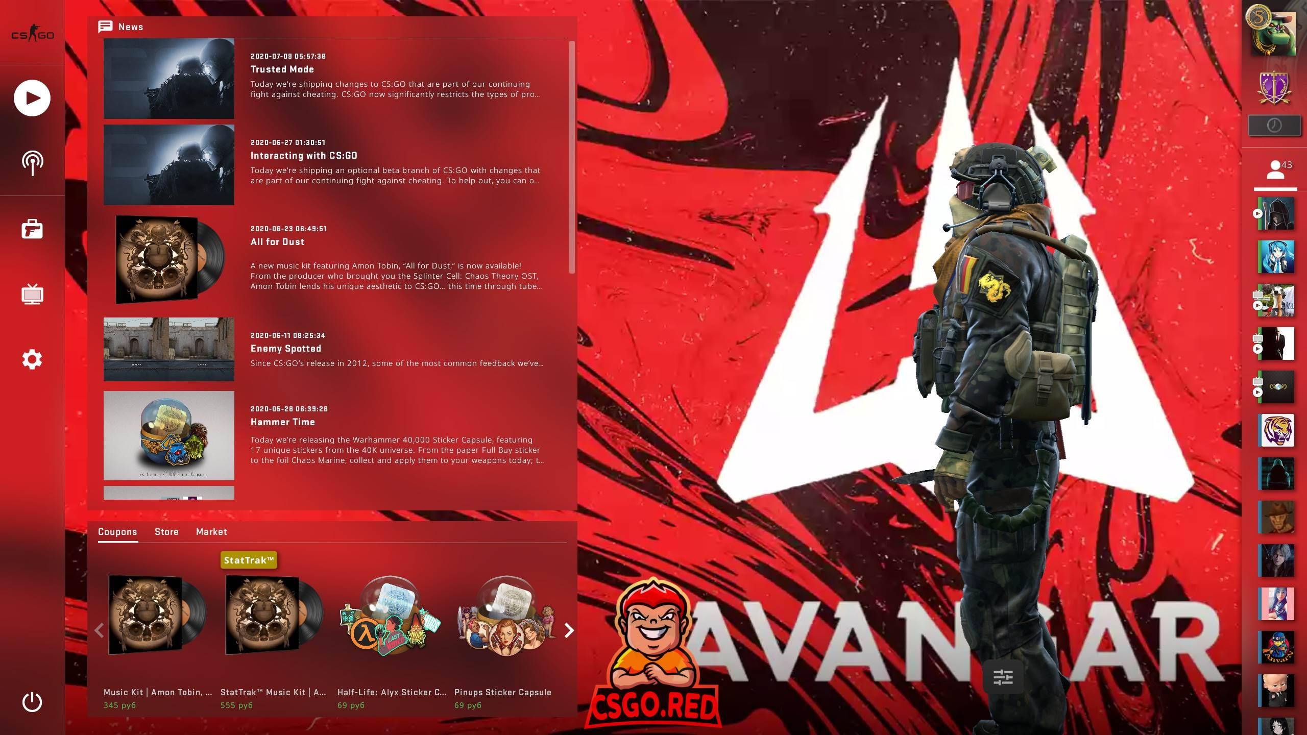 Avangar Panorama UI Background