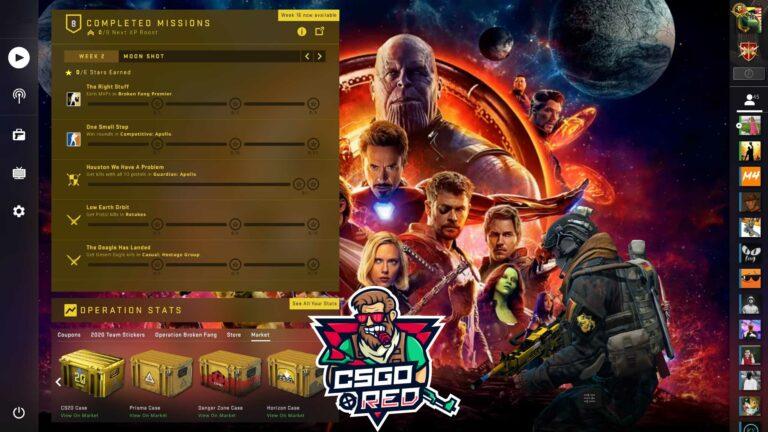 Avengers Infinity War Panorama UI Background