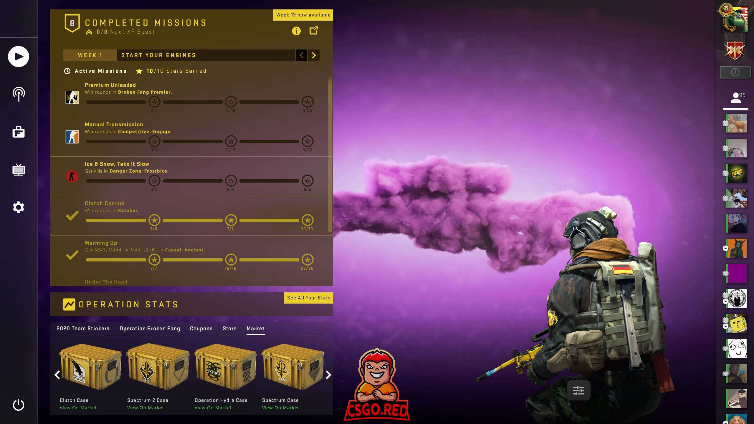 Awp in Clouds CSGO Panorama UI Background Preview