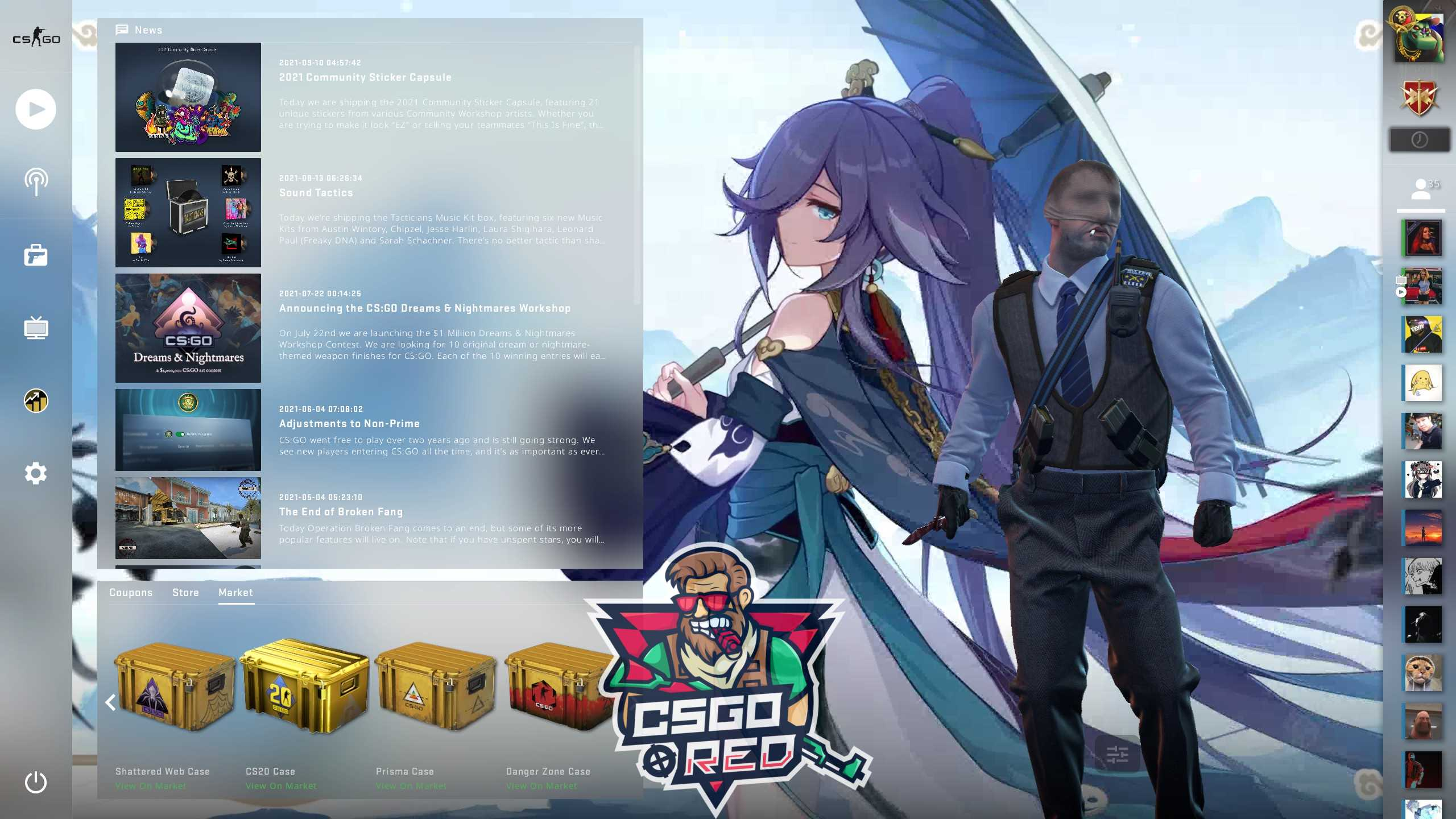 Azure Empyrea Honkai Impact 3 CSGO Panorama UI Background