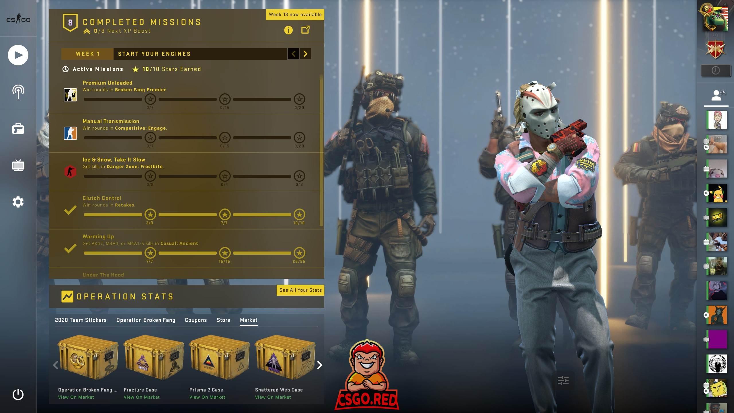 CSGO Counter-terrorist Background Panorama UI Preview