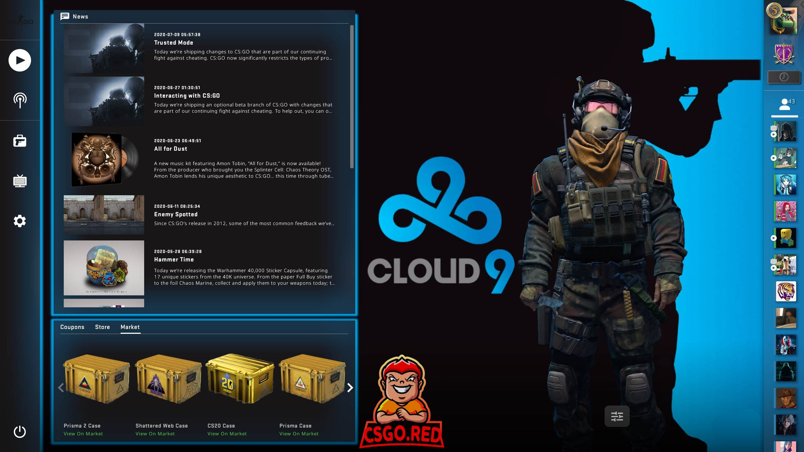 Cloud9 Panorama UI Background