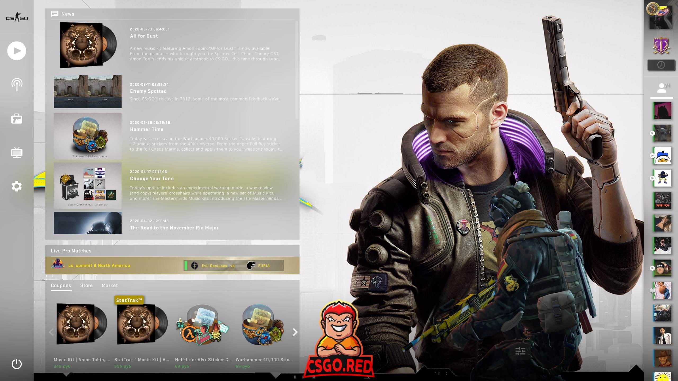 Cyberpunk 2077 Protagonist with gun panorama ui background