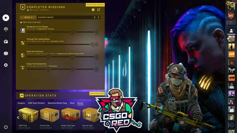 Cyberpunk Chick CSGO Panorama UI Background