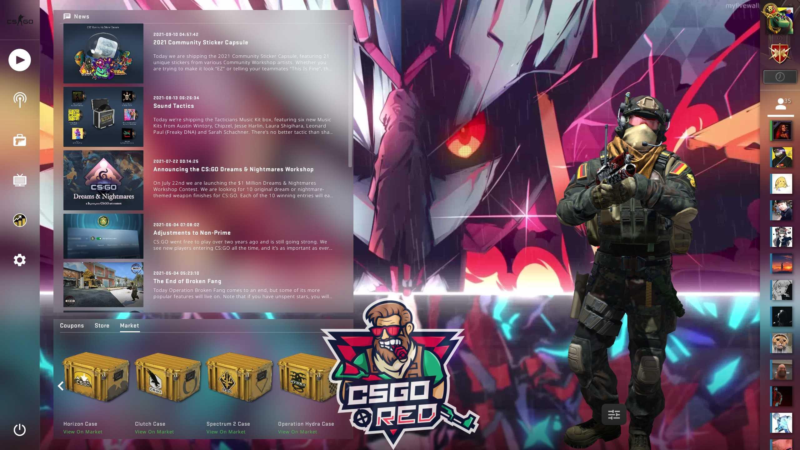DITF Zero Two CSGO Panorama UI Background