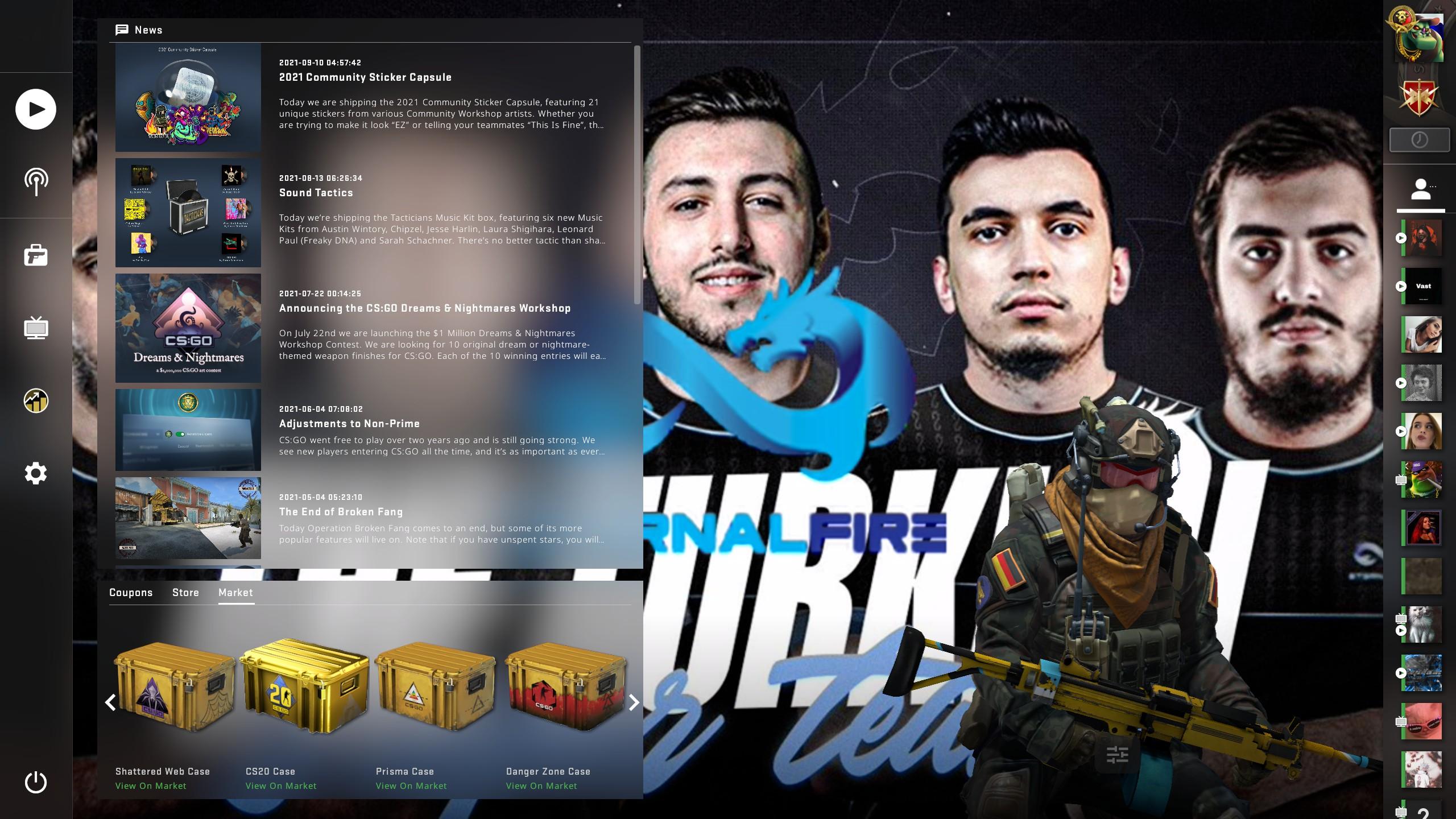 Eternal Team CSGO Panorama UI Background