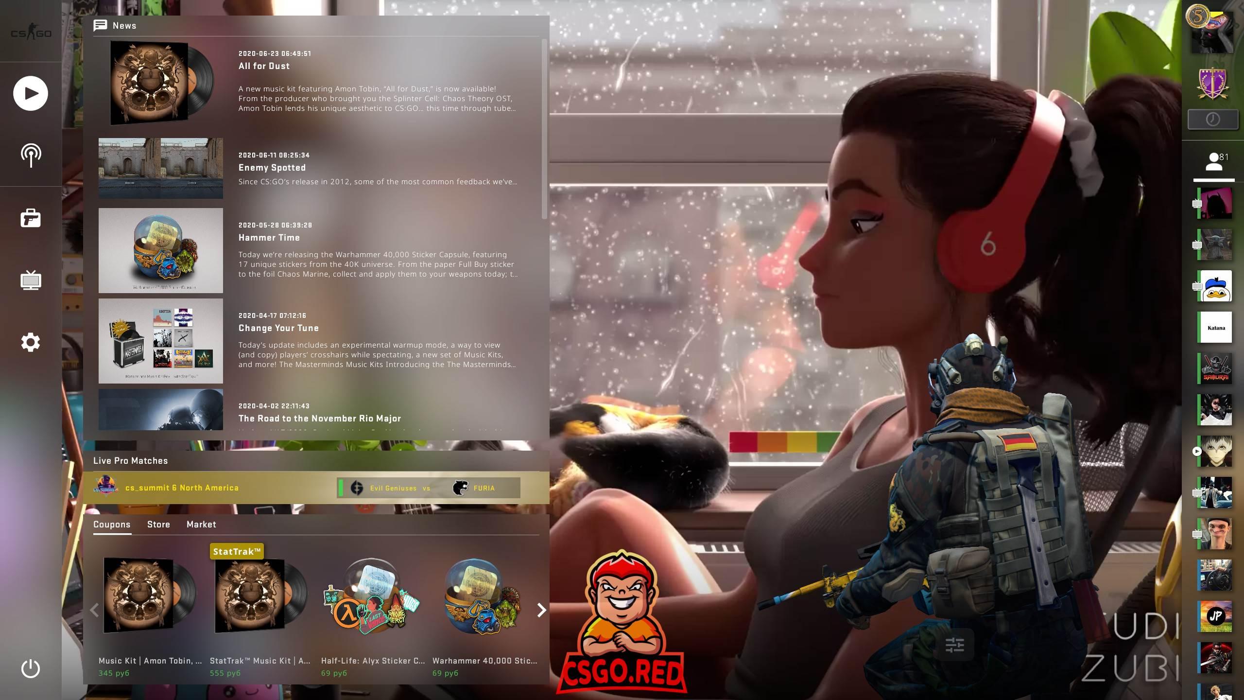 Girl Drawning Animated Panorama UI Background