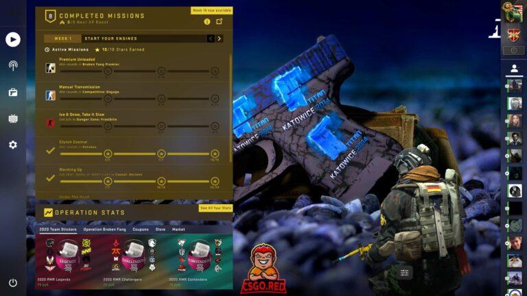Glock katowice titan stickers CSGO Panorama UI Preview