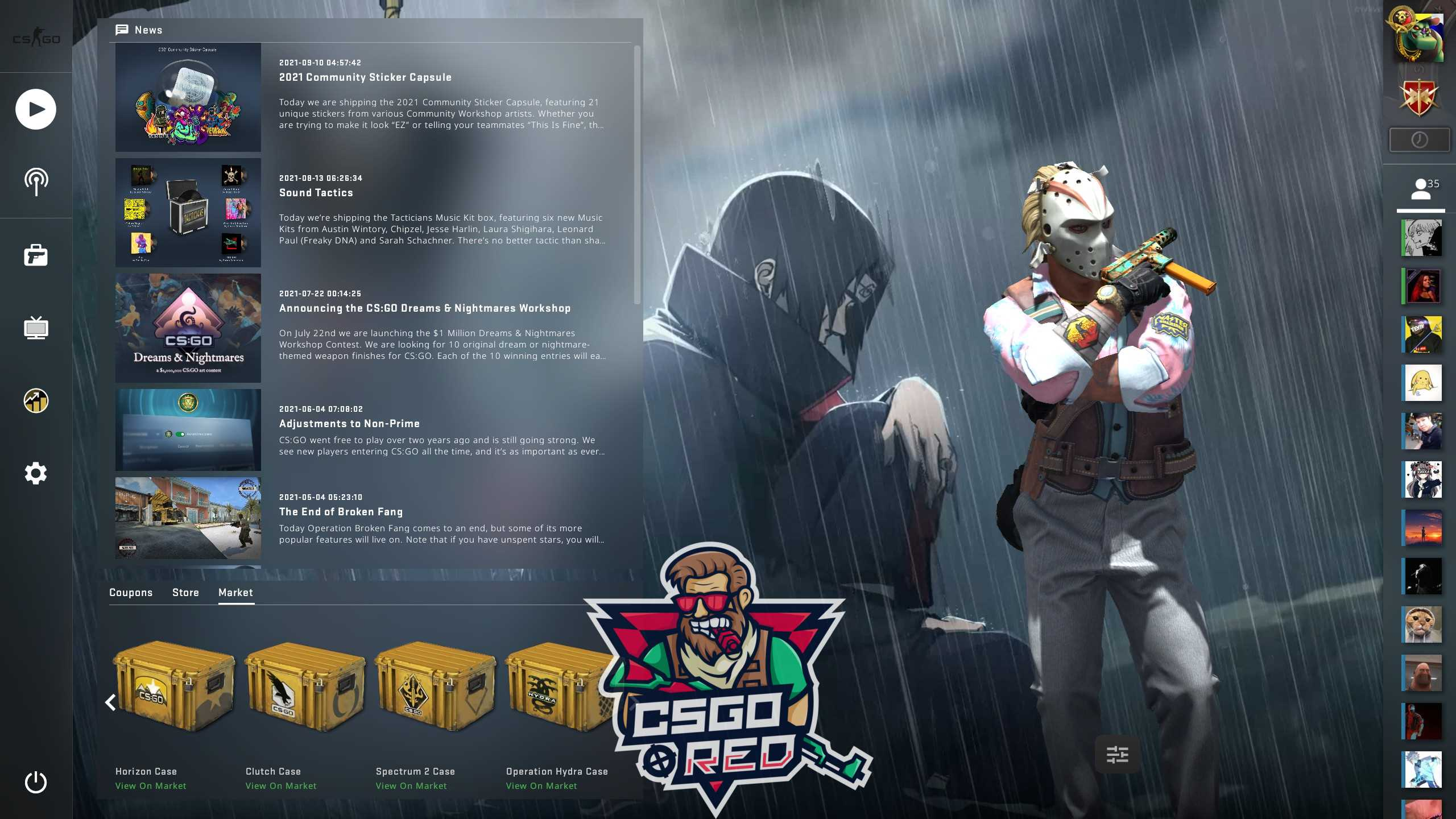 Itachi And Kisame CSGO Panorama UI Background