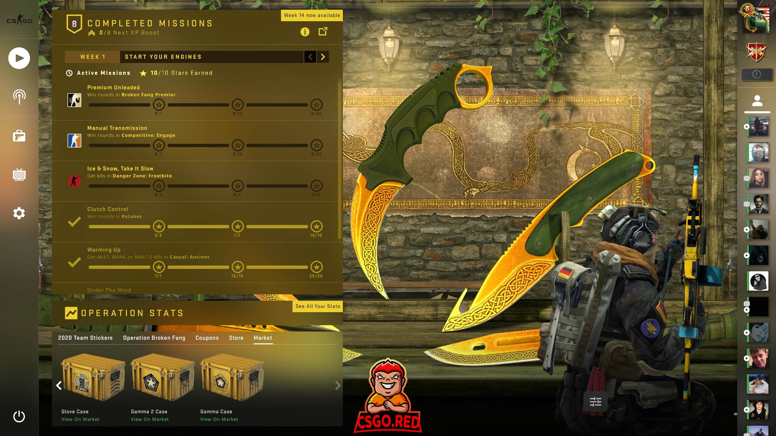 Lore Knifes Collection CSGO Panorama UI Preview