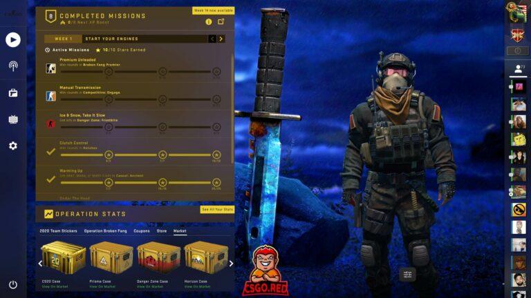 M9 Knife Blue Gem CSGO Panorama UI Preview