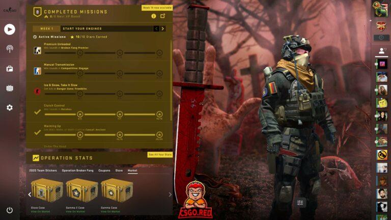 M9 Knife Crimson Web CSGO Panorama UI Preview