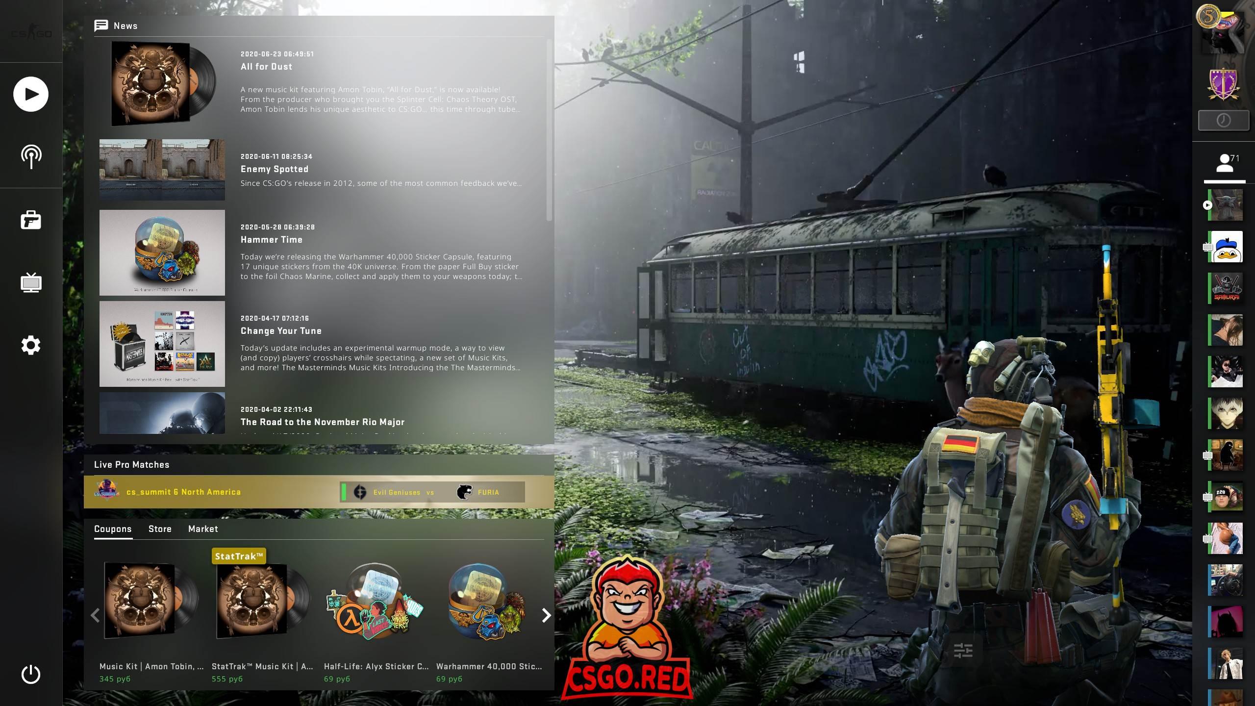 Post Apocalyptic Animated Panorama UI Background