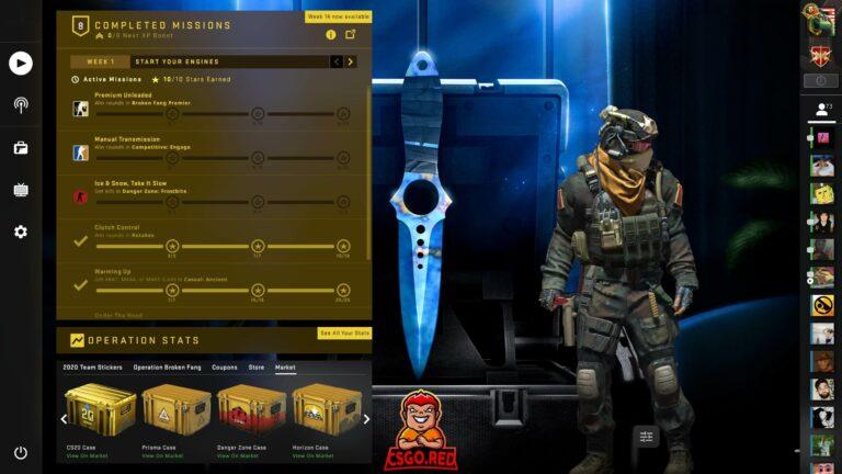 Skeleton Knife Blue Gem CSGO Panorama UI Preview
