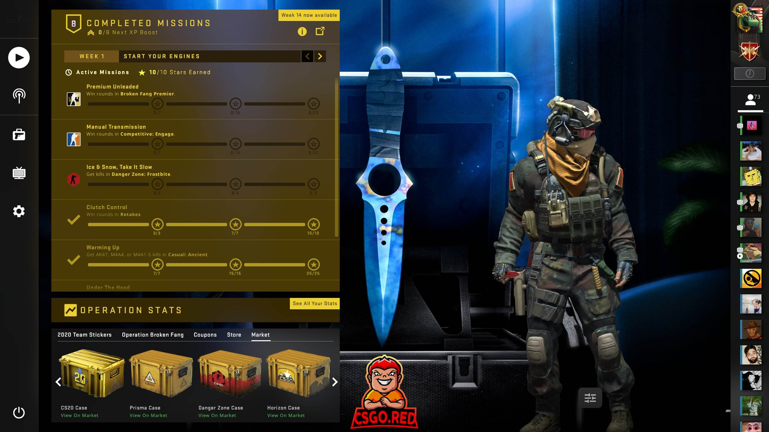 Skeleton Knife Blue Gem CSGO Panorama UI Preview