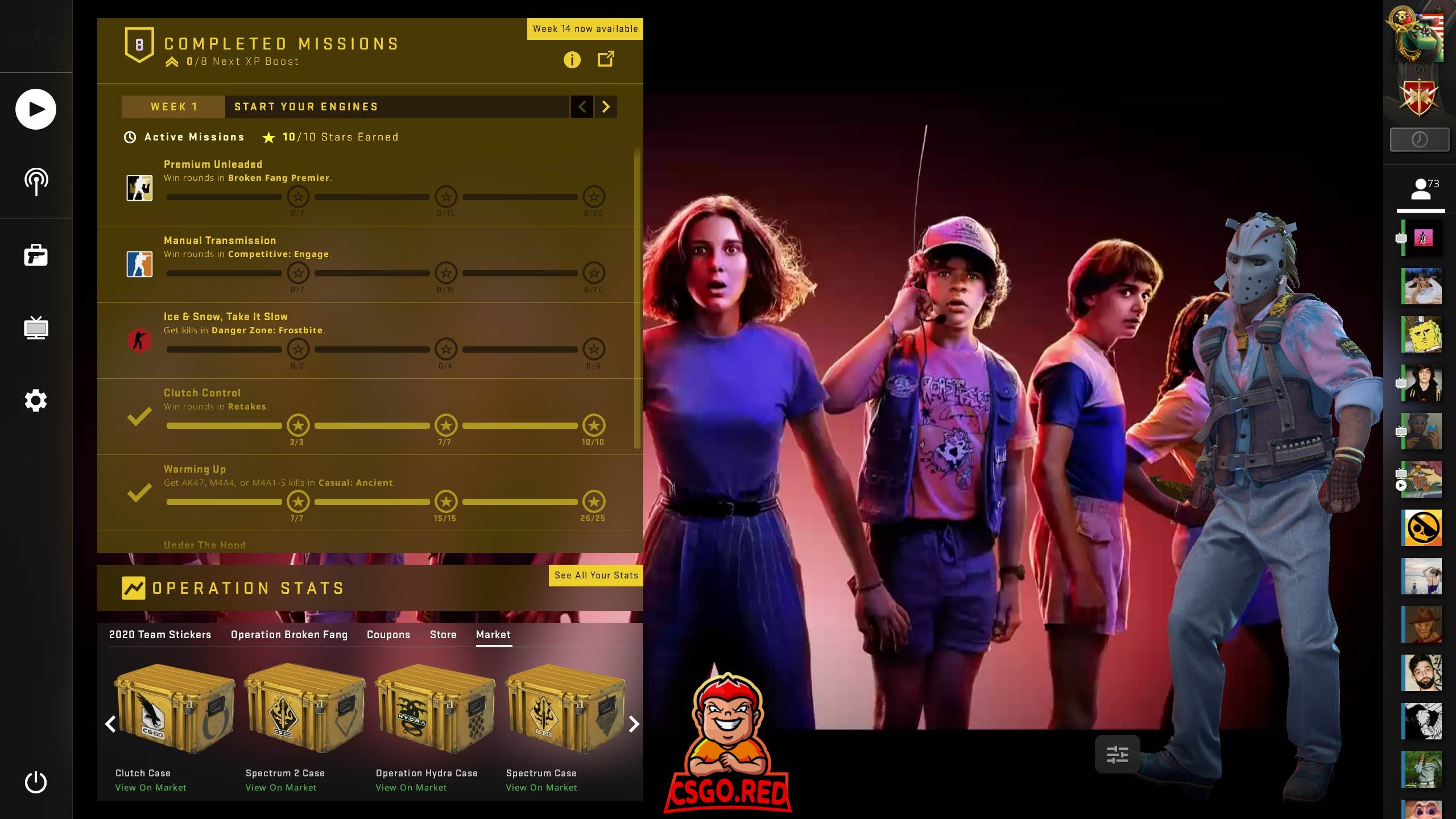 Stranger Things CSGO Panorama UI Preview