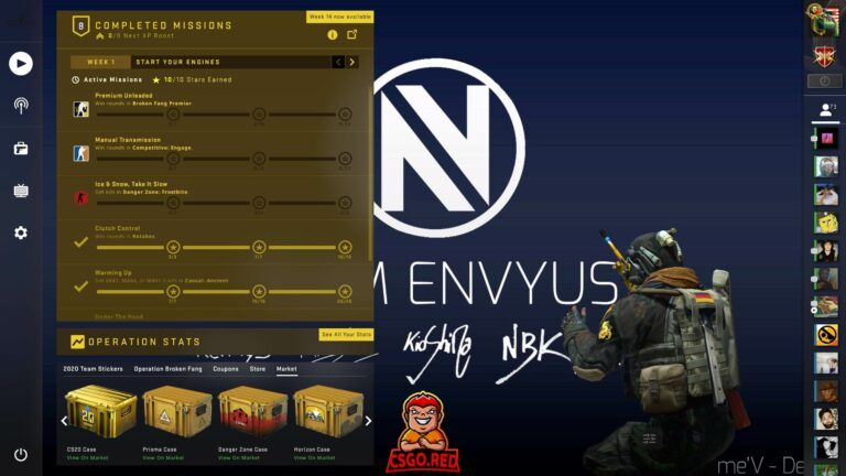 Team ENVYUS CSGO Panorama UI Background preview