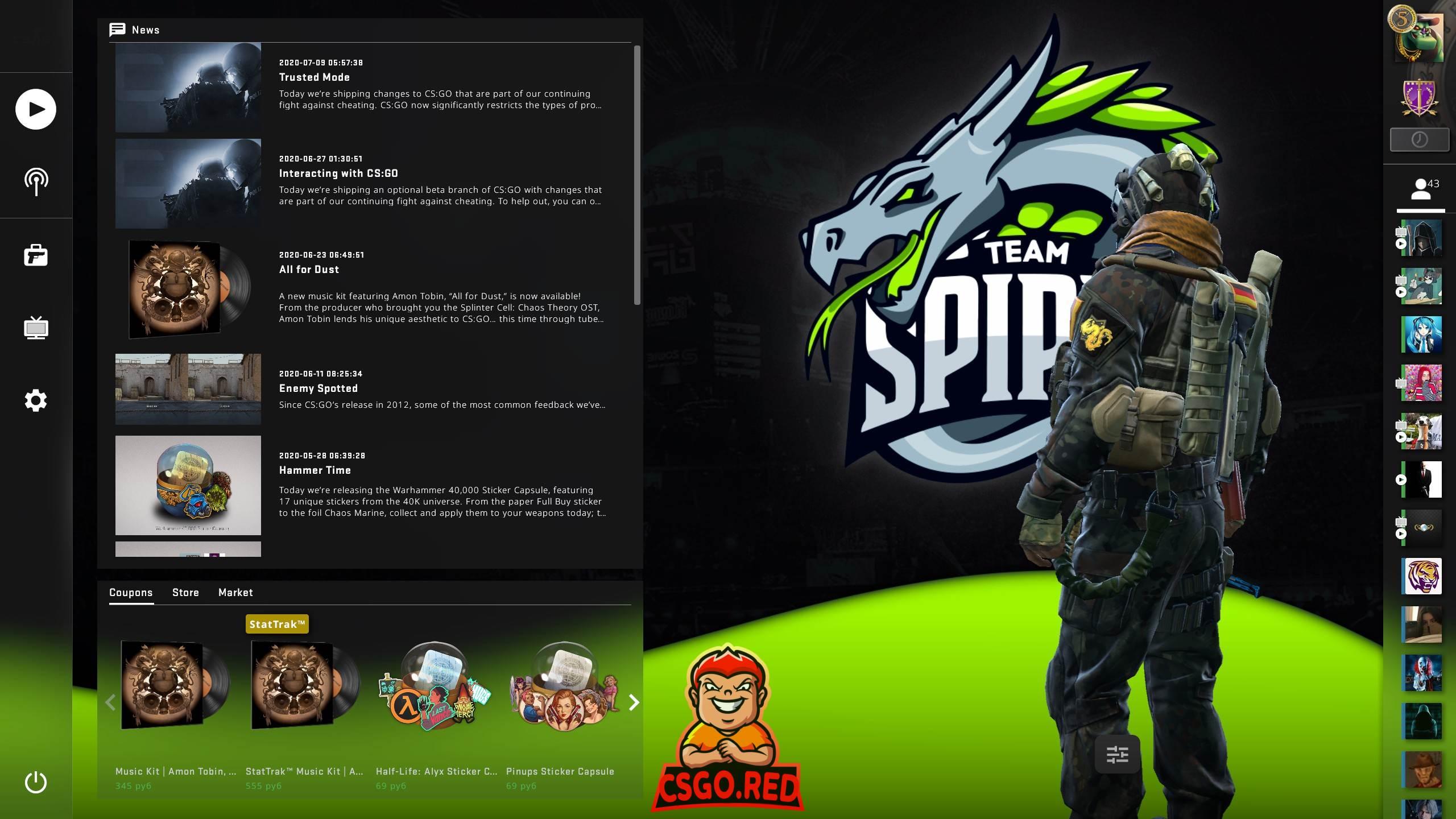 Team Spirit Panorama UI Background