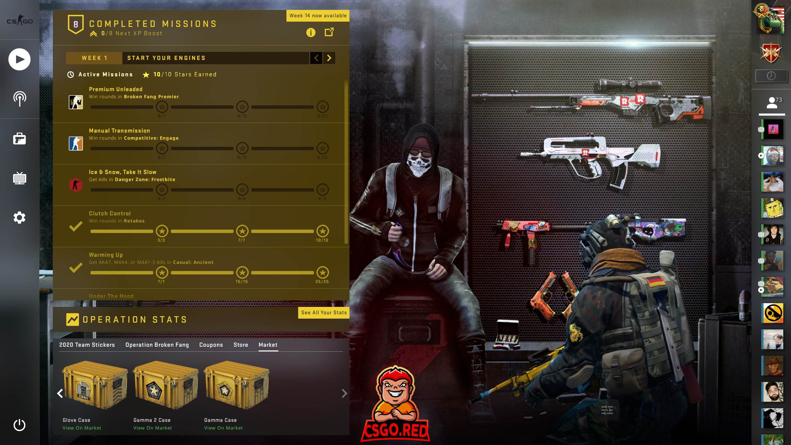 Terrorist in weapons room CSGO Panorama UI Preview