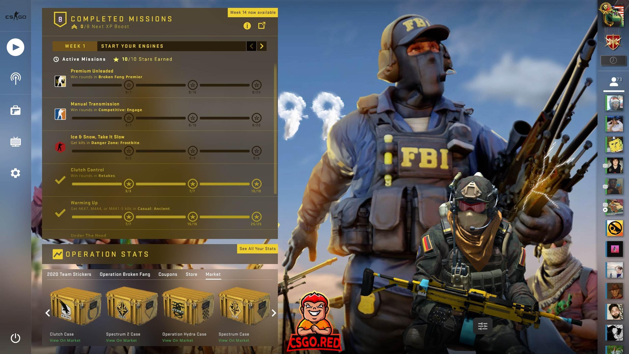 Terrorists threaten counter terrorist CSGO Panorama UI Preview