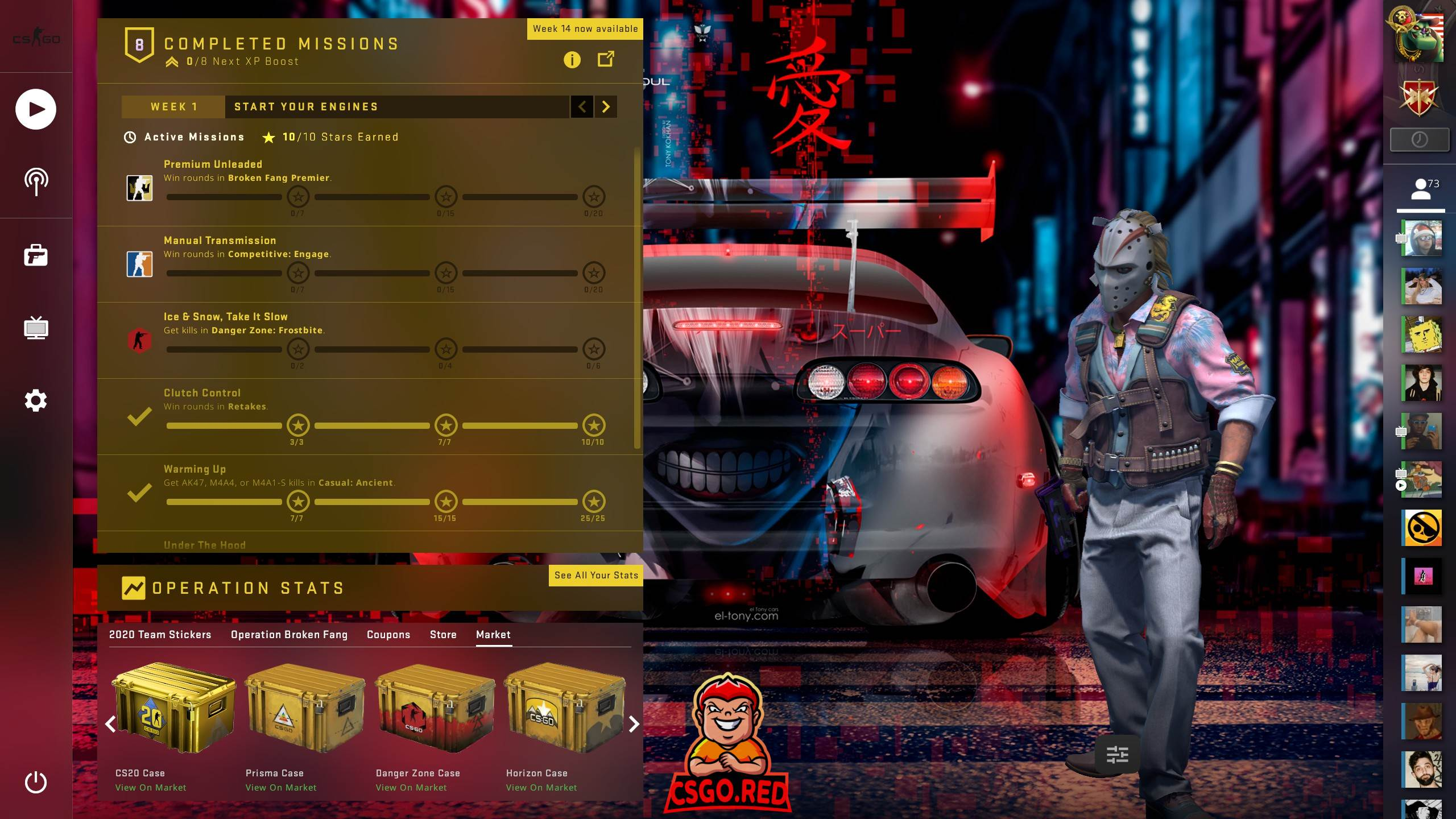 Toyota-Supra CSGO Panorama UI Background Preview