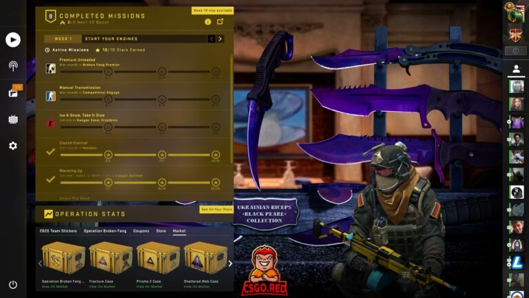 Ukrainian Biceps Black Pearl Knife Collection Panorama UI Preview